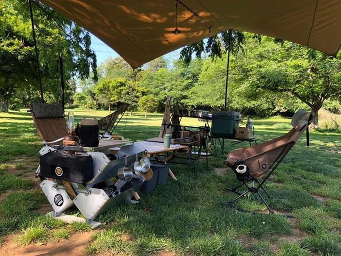西湖キャンプ場テント村で自然に癒されながらのんびりキャンプを楽しもう