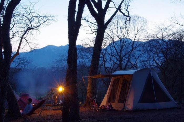 泊まれるキャンプサイトはフリーサイト!
